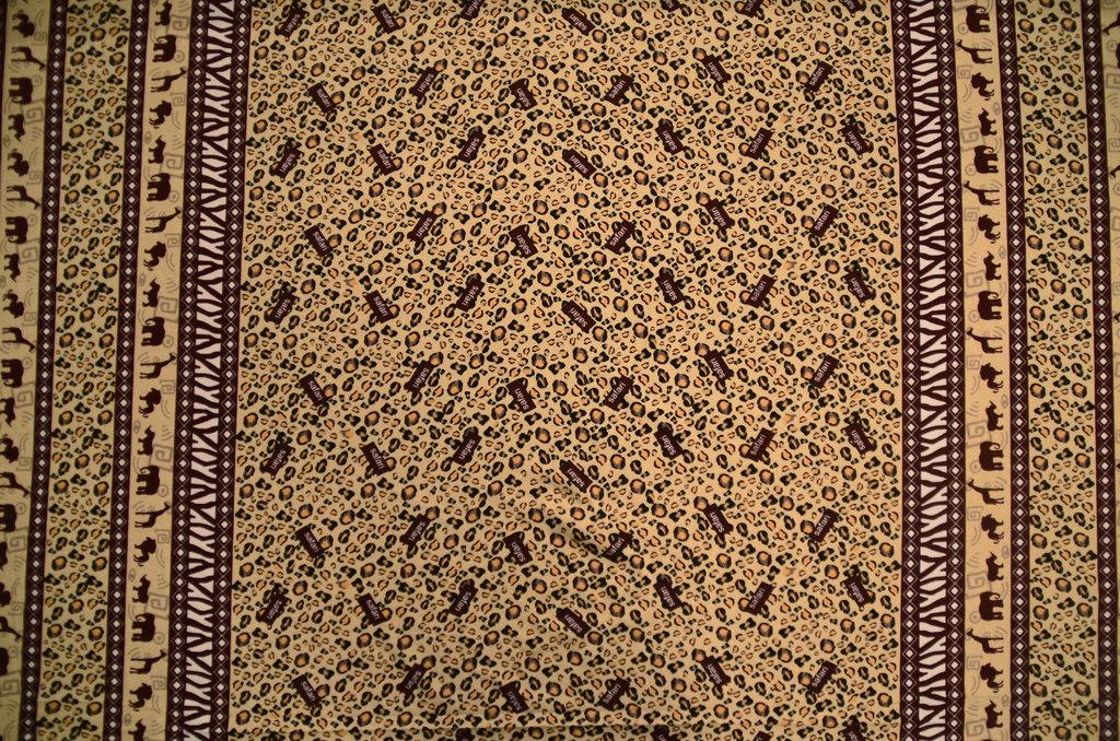 Кулирная гладь набивная рулон Сафари, фото 1