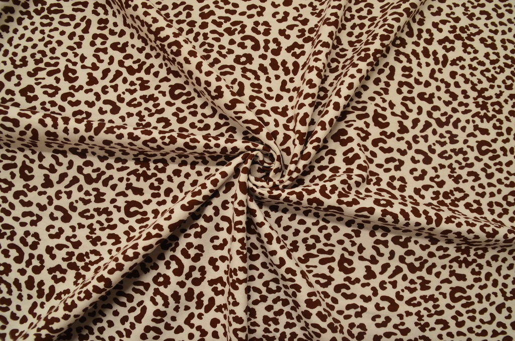 Футер 2-х нитка набивной с начёсом рулон Леопард, фото 1