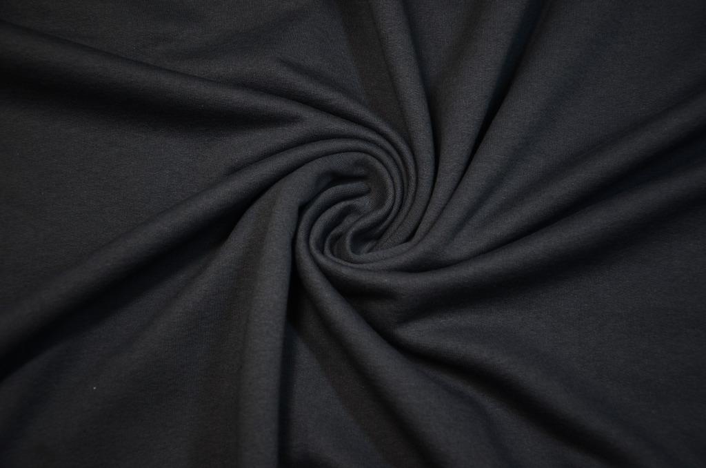 Футер 2-х нитка с начёсом гладкокрашеный пачка  Черный, фото 1