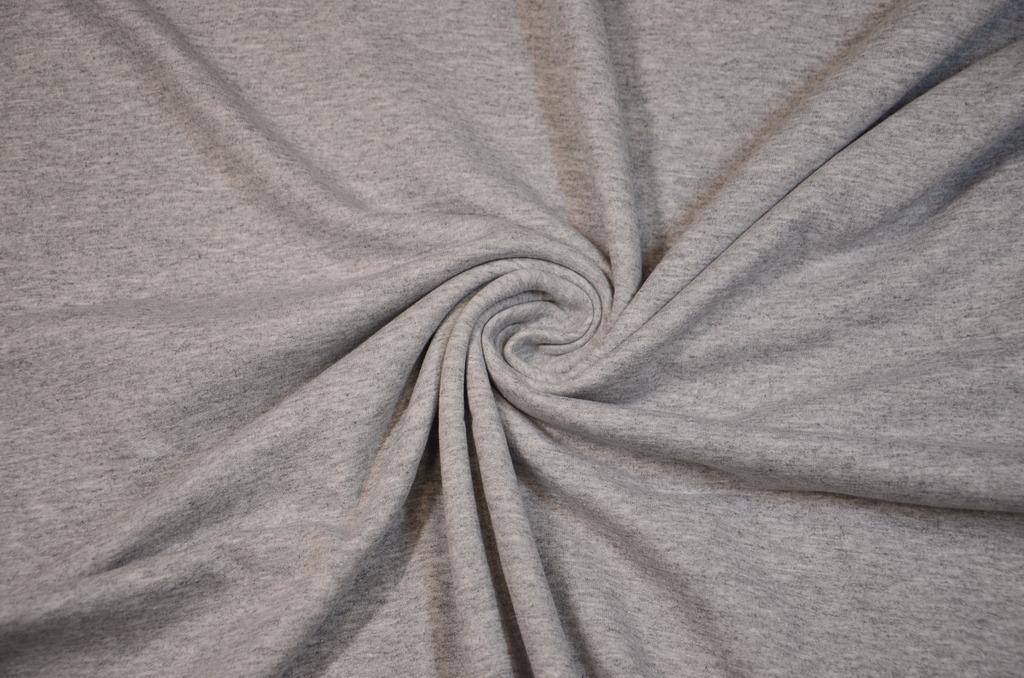 Футер 2-х нитка с начёсом гладкокрашеный пачка Серый меланж, фото 1
